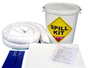 35 Litre Oil and Fuel Performance Spill Kit in a Plastic Drum