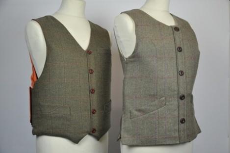 Tweed Waistcoat Armoured Vest