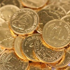 All The World' Milk Chocolate Coins - 1Kg (193 Coins)
