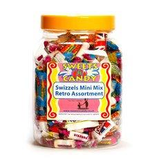 A Jar of Assorted Swizzels Mini Mix Retro Sweets