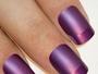 Matte Purple French False Nails