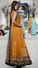 ORANGE MEHNDI WEAR FRONT OPEN GOWN DUPATTA