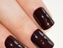 Burgundy Red French False Nails