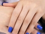 Matte Blue French False Nails
